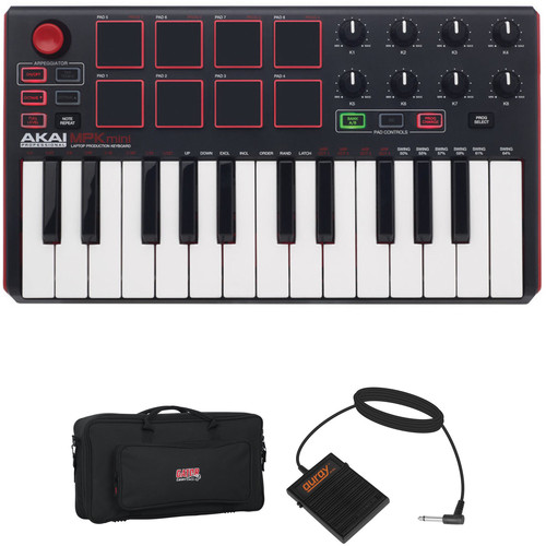 Akai Professional MPK mini MKII - Keyboard and Pad Controller Kit with Bag and Pedal