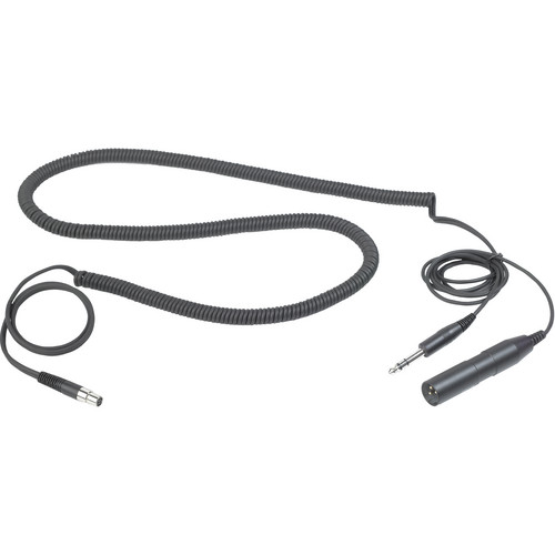 """AKG MK HS Studio C Extendable Headset Cable for Studio and Moderators with 3-Pin XLR + 1/4"""" Stereo Connectors (5.9 to 8.2')"""