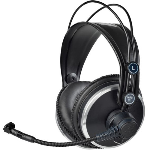 AKG Professional Headset with Condenser Microphone & Auto HP Mute
