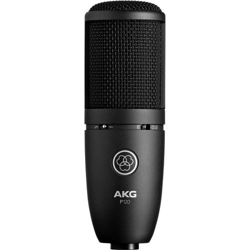AKG P120 Cardioid Condenser Microphone (Black)
