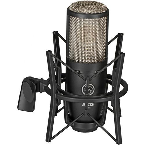 AKG P220 Large-Diaphragm Cardioid Condenser Microphone (Black)