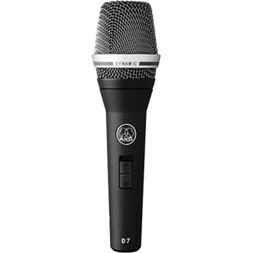 AKG D7 S Reference Handheld Dynamic Vocal Microphone with On/Off Switch