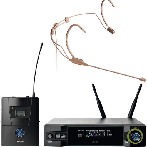 AKG WMS4500 HC577 L Fleshtone Head-Worn Wireless Microphone Set (Band 7: 500 - 530 MHz)