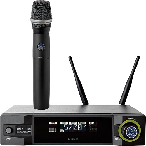 AKG WMS4500 D7 Set Reference Wireless Microphone System (BD1: 650.1 to 680.0 MHz, 50 mW)
