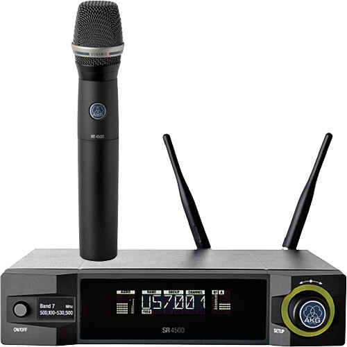 AKG WMS4500 D7 Set Reference Wireless Microphone System (BD8: 570.1 to 600.5 MHz, 50 mW)