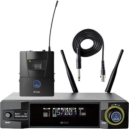 AKG WMS4500 Reference Instrument Set Reference Wireless Microphone System (BD7: 500.1 to 530.5 MHz, 50mW)