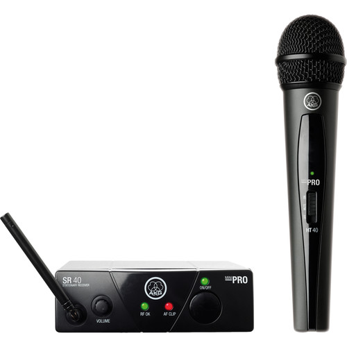 AKG WMS40 Mini Single Vocal Set Wireless Microphone System (Band: A)