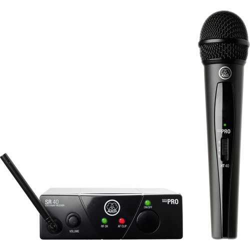 AKG WMS40 Mini Single Vocal Set Wireless Microphone System (Band: D)