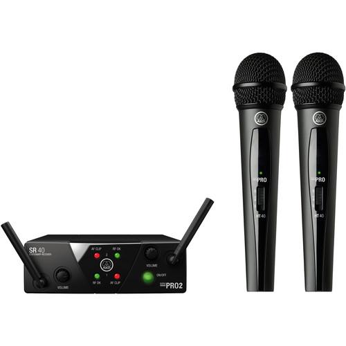 AKG WMS40 Mini Dual Vocal Set Wireless Microphone System (Band: A & B)