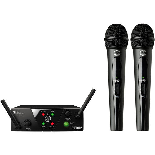 AKG WMS40 Mini Dual Vocal Set Wireless Microphone System (Band: C & D)