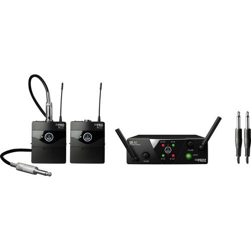 AKG WMS40 Mini Dual Instrumental Wireless System Set (Band: B & D)