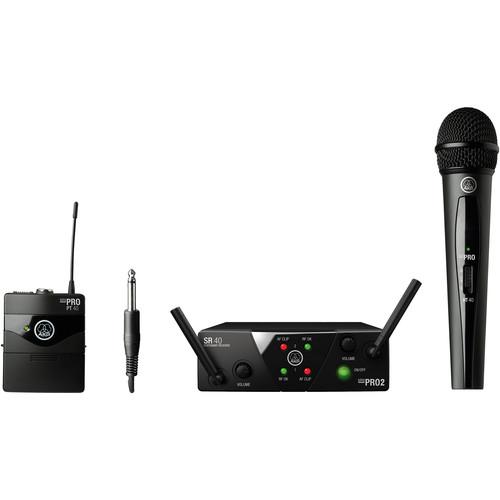 AKG WMS40 Mini Wireless Handheld & Bodypack Dual System (Channels A/B)