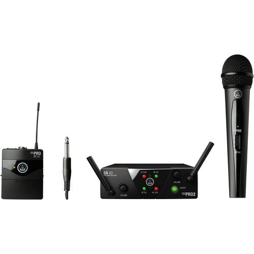 AKG WMS40 Mini Wireless Handheld & Bodypack Dual System (Channels C/D)