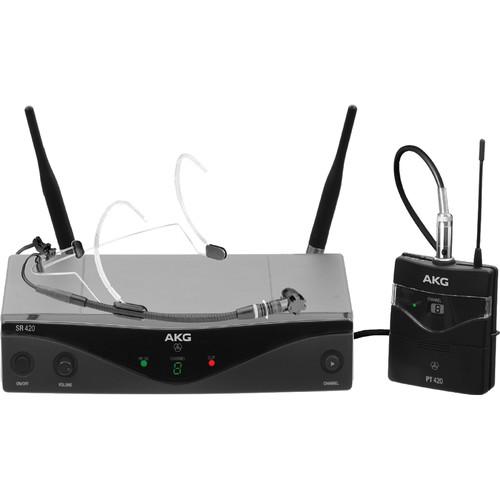 AKG WMS420 UHF Wireless Headworn Microphone System (Band U2: 614.1 to 629.9 MHz)