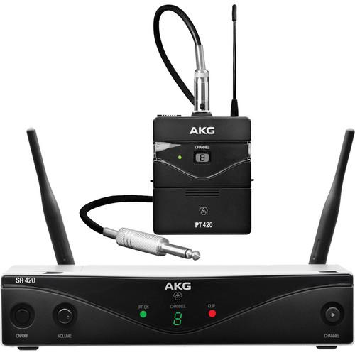 AKG WMS420 UHF Wireless Instrumental System (Band A: 530.025 to 559.00 MHz)