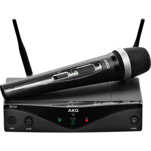 AKG WMS420 UHF Wireless Vocal Set (Band A: 530.025 to 559.00 MHz)