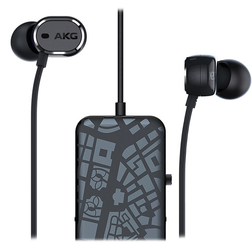 AKG N20 NC In-Ear, Noise-Canceling Headphones with Microphone and 3-Button Remote (Black)