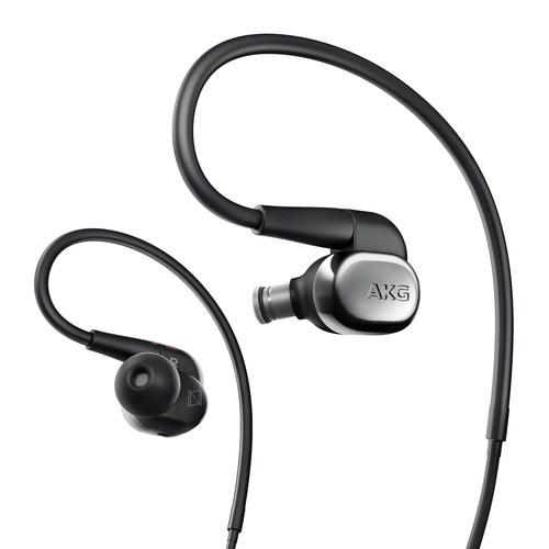 AKG N40 High-Resolution, In-Ear Headphones with Customizable Sound (Silver)