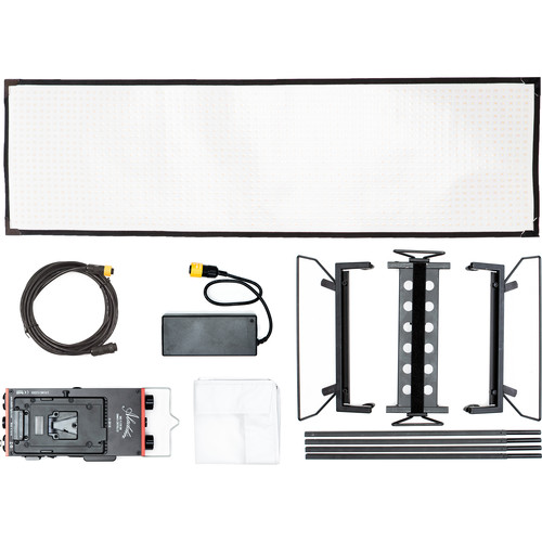 Aladdin Bi-Flex4 Bi-Color LED Panel Kit with Soft Bag (V-Mount)