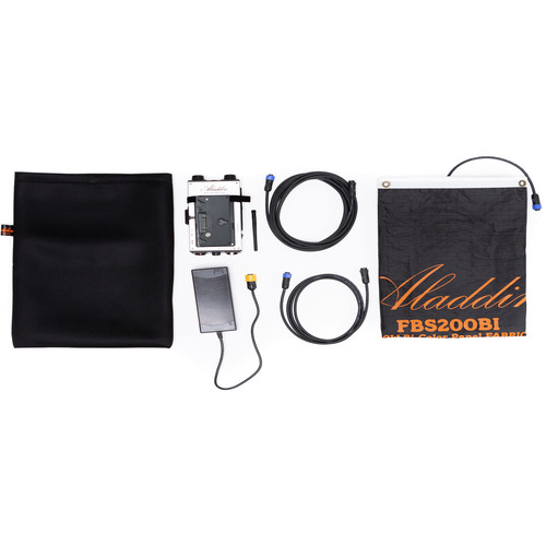 Aladdin Fabric-Lite 200W Bi-Color Kit with Gold Mount Battery Plate
