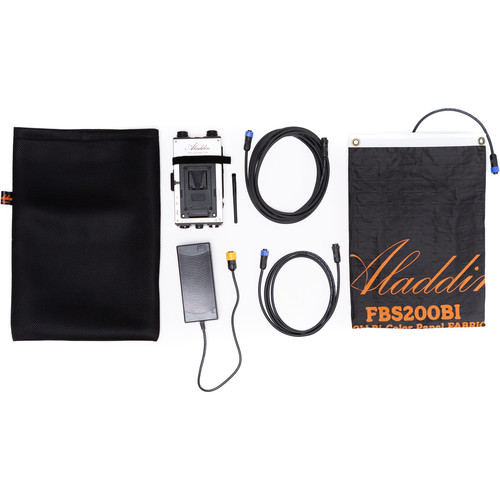 Aladdin Fabric-Lite 200W Bi-Color Kit with V-Mount Battery Plate