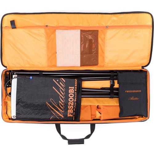 Aladdin Fabric-Lite 200W Bi-Color Kit with V-Mount Battery Plate