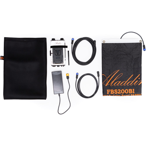 Aladdin Fabric-Lite 350W Bi-Color Kit with Gold Mount Battery Plate