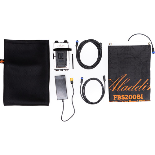 Aladdin Fabric-Lite 350W Bi-Color Kit with V-Mount Battery Plate