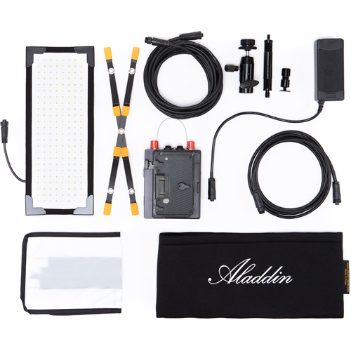 Aladdin Bi-Flex M3 Bi-Color Kit with Gold Mount Battery Plate and Case