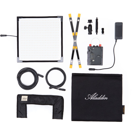 Aladdin Bi-Flex M7 Bi-Color Kit with Gold Mount Battery Plate and Case