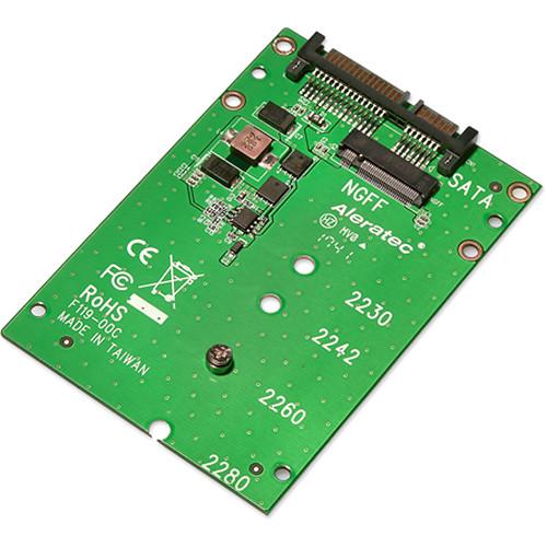 """Aleratec M.2 NGFF SATA SSD to 2.5"""" SATA Adapter (2-Pack)"""