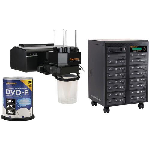 Aleratec RoboJet Disc AutoPrinter/1:15 Tower Duplicator/Recordable Discs