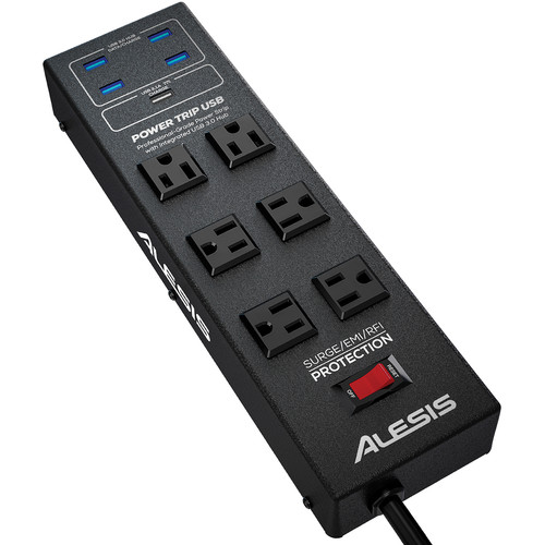 Alesis PowerTrip Power Strip with Integrated USB 3.0 Hub
