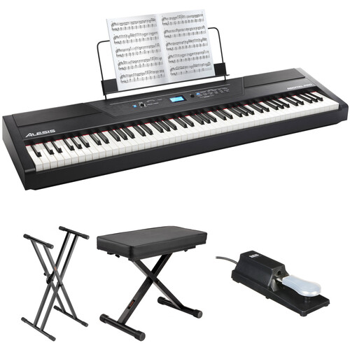 Alesis Recital Pro 88-Key Digital Piano with Hammer-Action Keys and Essentials Kit