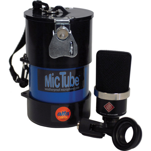 Alfa Case 20036MTLB-BLUE MicTube Weatherproof Microphone Case (Blue)