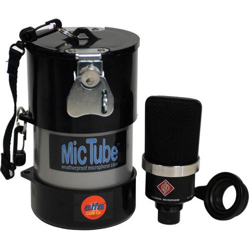 Alfa Case 20036MTLB-SILVER MicTube Weatherproof Microphone Case (Silver)
