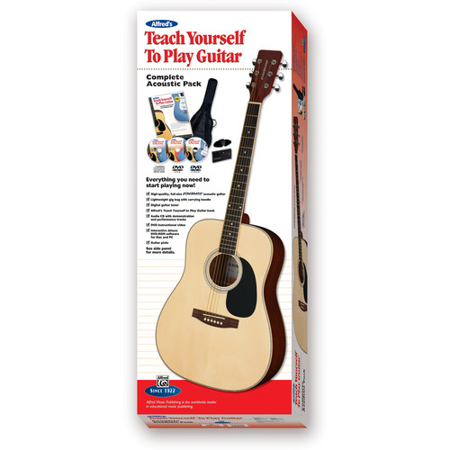 ALFRED Teach Yourself To Play Guitar Starter Pack - Firebrand Acoustic Guitar & Instructional Course