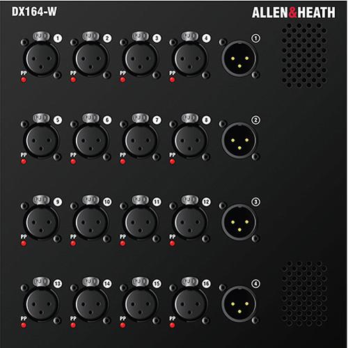 Allen & Heath DX164-W 16 XLR Input / 4 XLR Output Wall Mount DX Expander