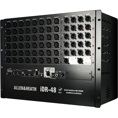Allen & Heath iDR-48DO iLive Fixed-Format MixRack with AES Audio (8 RU)