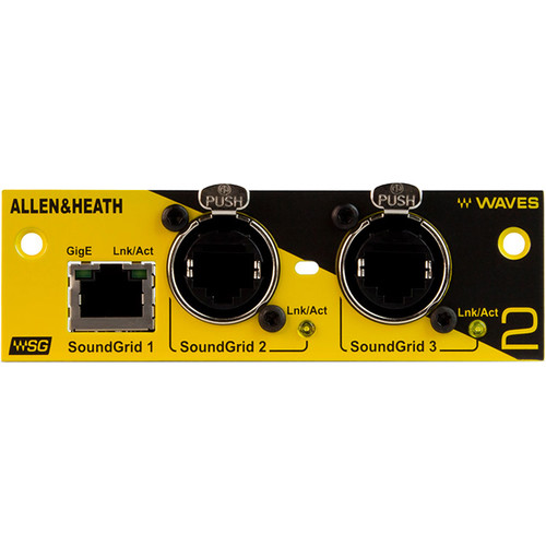 Allen & Heath M-WAVES V2 Audio Networking Card for iLive, GLD, and ME Digital Mixing Systems