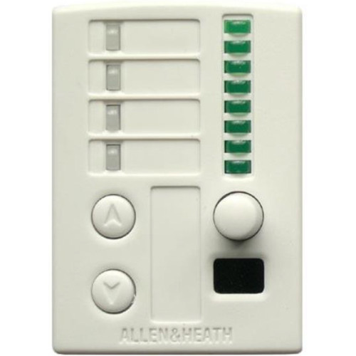 Allen & Heath Wall Plate Remote Controller with IR Sensor for GR3 & GR4 Audio Zone Mixers