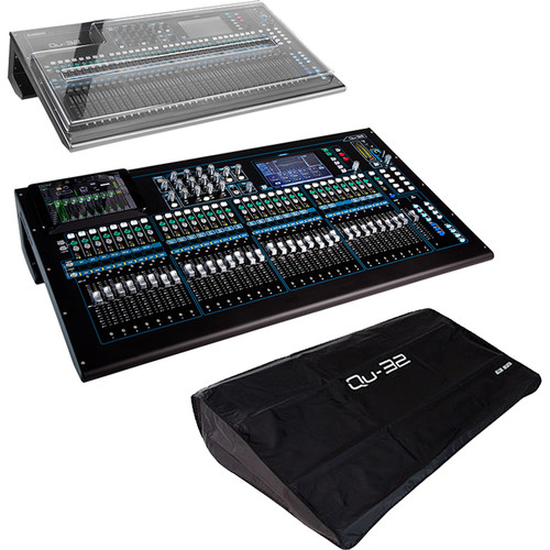Allen & Heath Qu-32C 38-In/28-Out Digital Mixer Kit with Hard Cover and Soft Dust Cover