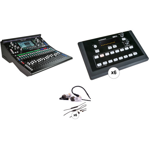 Allen & Heath SQ-5 Digital Mixer Kit with 6 Personal Monitor Mixers and In-Ear Monitors