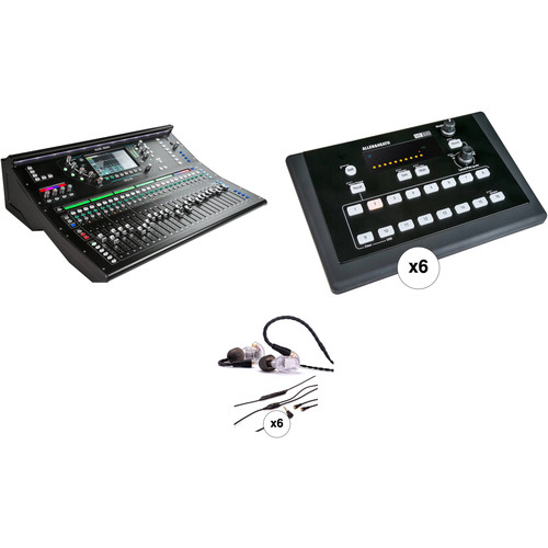 Allen & Heath SQ-6 Digital Mixer Kit with 6 Personal Monitor Mixers and In-Ear Monitors