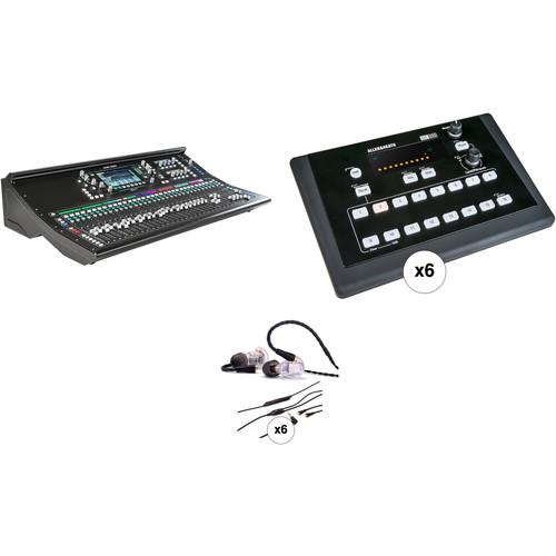 Allen & Heath SQ-7 Digital Mixer Kit with 6 Personal Monitor Mixers and In-Ear Monitors
