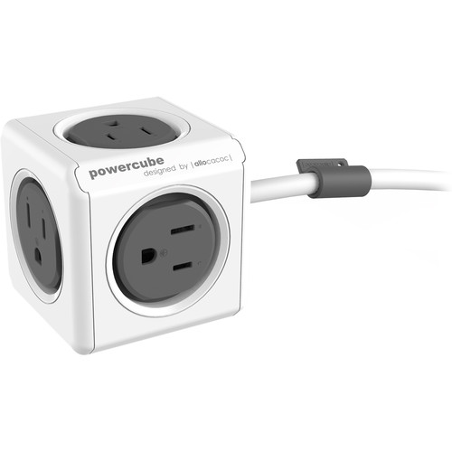 allocacoc PowerCube Extended (5', Gray)