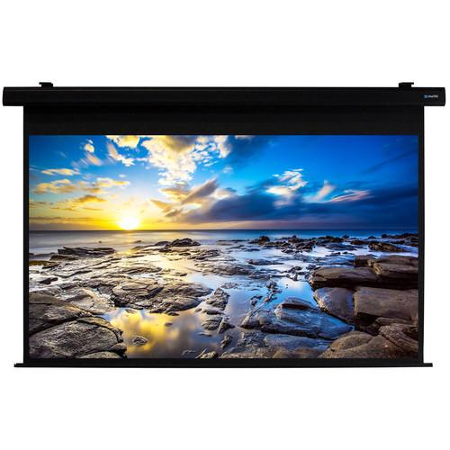 "Alltec Electric Projector Screen 100"" Diag/Hdtv Format (49x87"") Matte White Fabric (Black Case)"