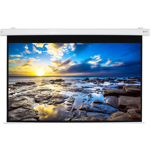 "Alltec Electric Projector Screen 100"" Diag/Widescreen PC Format (53x85"") Matte White Fabric"