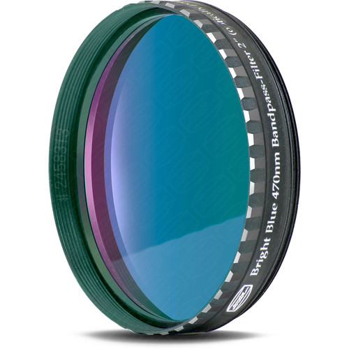 "Alpine Astronomical Baader Blue Colored Bandpass Eyepiece Filter (2"")"