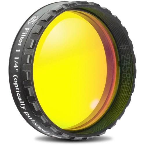 """Alpine Astronomical Baader Yellow Colored Bandpass Eyepiece Filter (1.25"""")"""